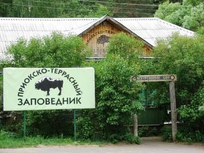 Приокско-Террасный биосферный заповедник, зубровый питомник в пос. Данки, Московская область.